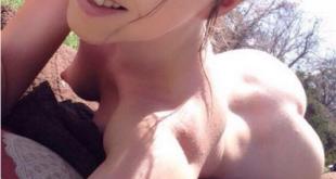 Selfie toute nue entrain de bronzer